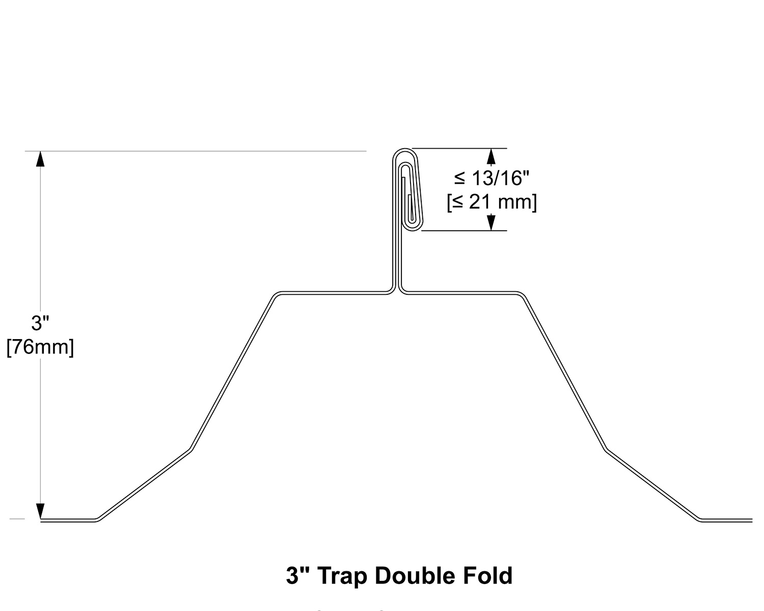 3 Trap Double Foldmetalroof