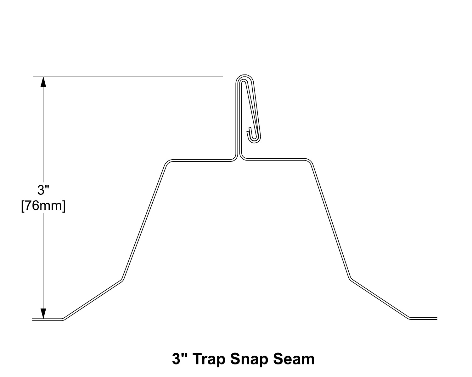 3 Trap Snap Seammetalroof
