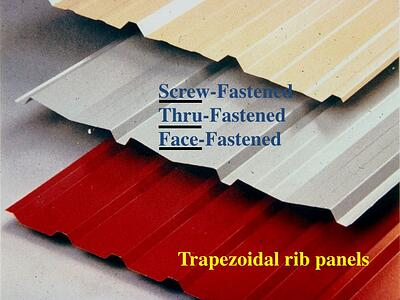 Exposed fastener metal Roof