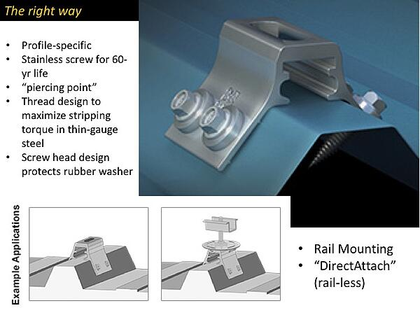 Rail-less Mounting with RibBracket™ and S-5 PV Kit - S-5!®