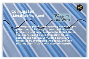 S-5! - Word of the Week - Corrugated Roofing Panel - Metal Roofing Industry Definitions