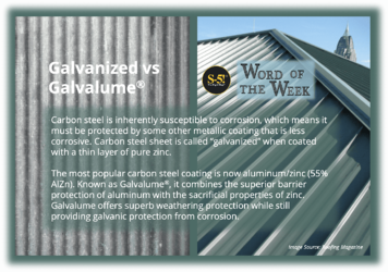 S-5! Galvanized vs Galvalume - steel coated with pure zinc and steel coated with zinc and aluminum-min