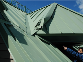 S-5!® -  Roof damage from rooftop avalanche