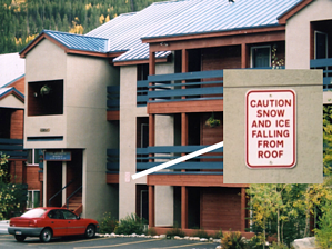 S-5!® Caution Snow and Ice Falling Sign