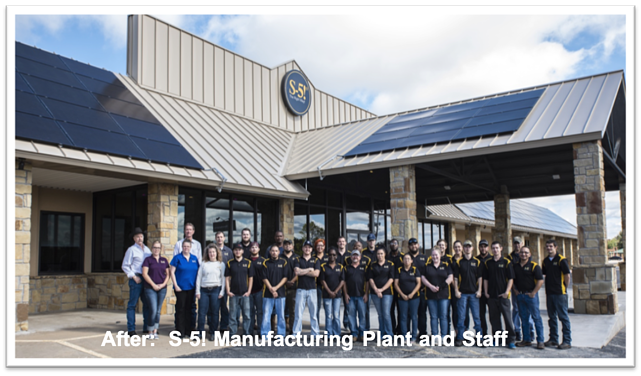 S-5!® Manufacturing Plant After Extensive Renovations - Iowa Park Texas