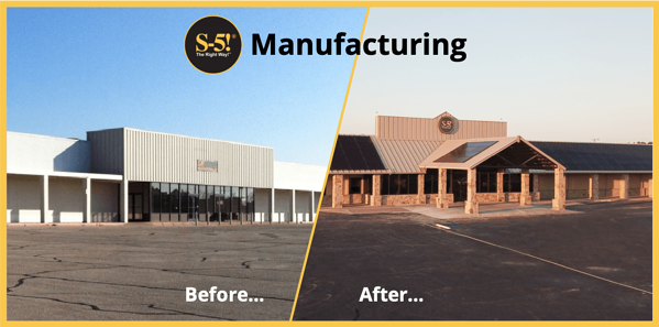 S-5!® Manufacturing Plant Before and After Renovations Photographs - Texas