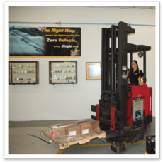S-5!® Manufacturing Plant Forklift Interior of Plant