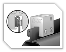 S-5!® Non-Penetrating Clamp on a Standing Seam Roof