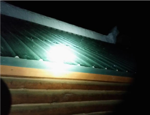 S-5!® Rooftop Avalanche - Several feet of snow fell from this roof onto the children playing below it. Source - East Idaho News)