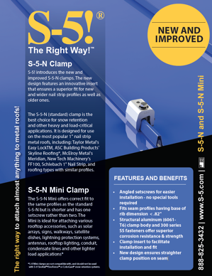 S-5!® S-5-N Nail Strip Profile Clamp - Features and Benefits