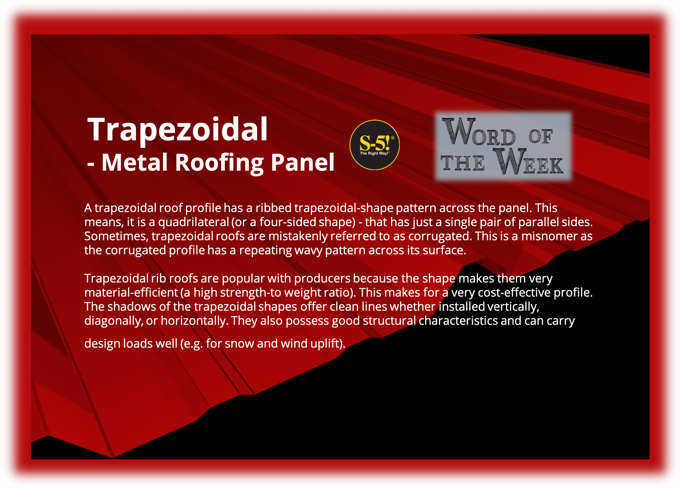 S-5!® Word of the Week - What is a trapezoidal rib roof profile-2