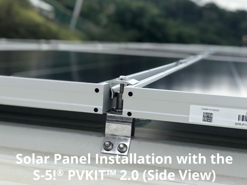 Solar Panel Installation with the S-5!® PVKIT™ 2-0 (Side View)