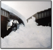 Sudden Release of Roof Snow (Snow Avalanche)