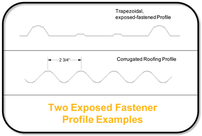 Two Exposed Fastener Profile Examples - S-5!®