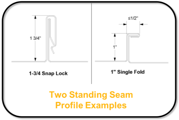 Two Standing Seam Roof Profile Examples - S-5!®