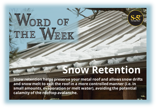 S-5!® - What is Snow Retention - Snow retention helps preserve your metal roof and allows snow drifts and snow melt to exit the roof in a more controlled manner avoiding the potential calamity of the rooftop avalanche.
