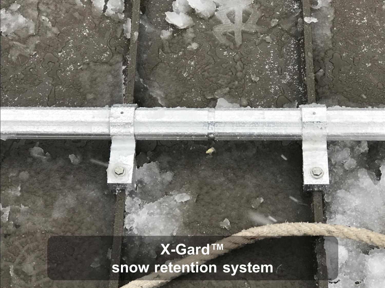 X-Gard snow retention system 2-1