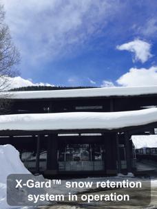 X-Gard™ snow retention system in operation