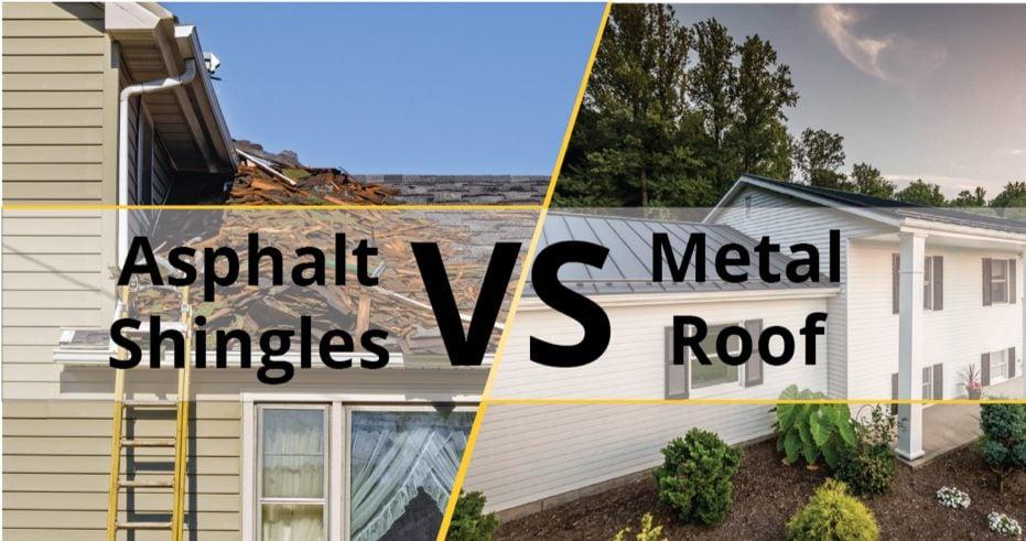 Metal Roof Vs Asphalt Shingles Comparison Which Is Better