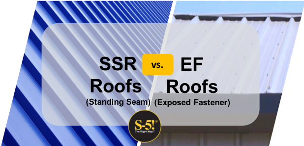 Standing Seam Metal Roof vs Exposed-Fastener Metal Roofs